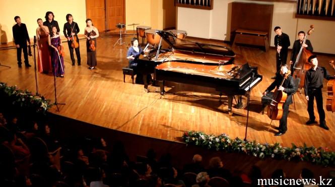 финал Фестиваля классической музыки: скетч-попурри в исполнении студентов и Ж.Аубакировой