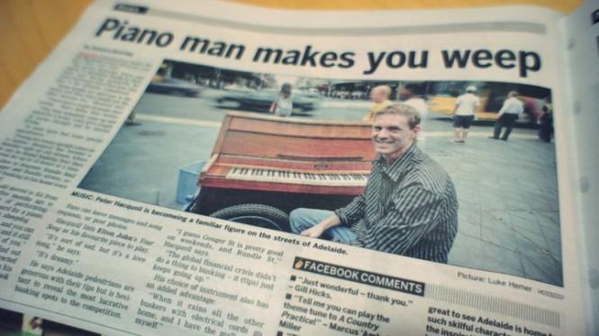 busking piano, фортепиано на улице