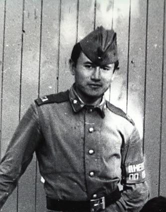 Б. Дальденбай в армии