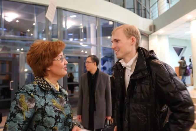 Жания Аубакирова и Андрей Дубов