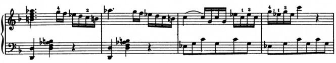 Моцарт. Соната F-dur. Отклонение в c-moll