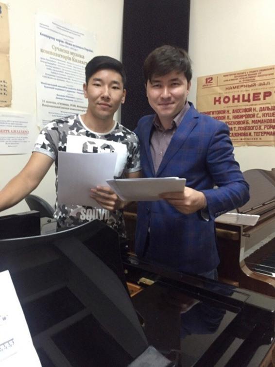 композиторы Данияр Бержапраков и Санжар Байтереков