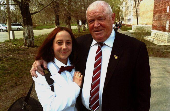 В.Рользинг с ученицей Д.Калининой