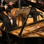 солист - Санжарали Копбаев (фортепиано)