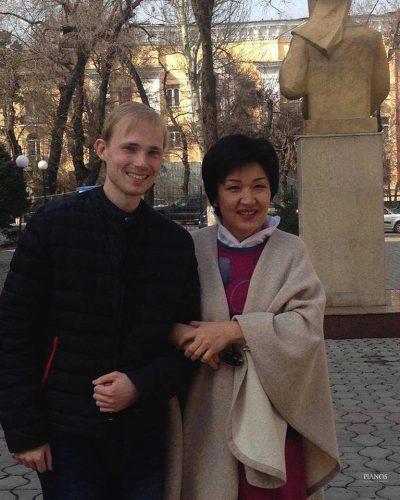 Андрей Дубов с Жаниёй Аубакировой