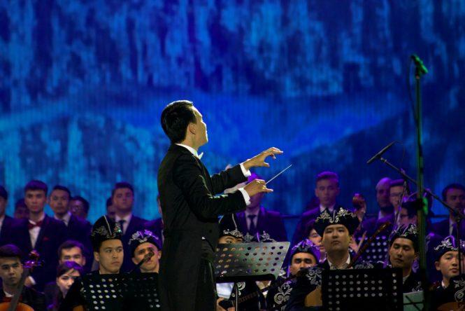 қазақ ұлттық аспаптар оркестрі Абылай Тілепбергенов жетекшілігімен
