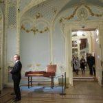 Фабио Мастранджело в Эрмитажном театре на выставке перед концертом
