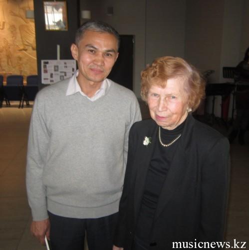 Н.И.Сацтың қызы Роксана Сацпен
