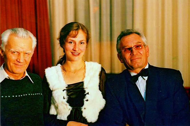 С музыковедом Аравиным Ю.П. и росийской певицей Е.Алабиной