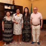 Айым Алмас на встрече с Жаниёй Аубакировой
