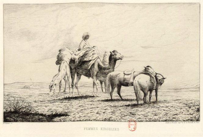 La vie des steppes Kirghizes